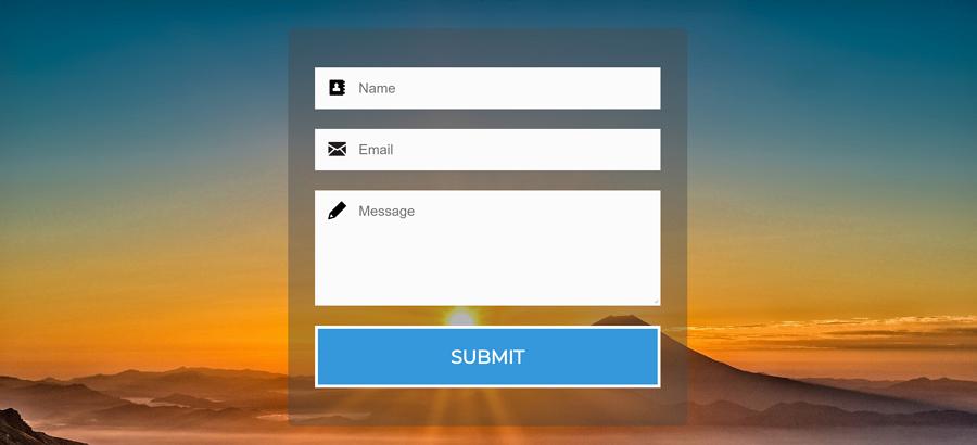联系表格HTML / CSS模板