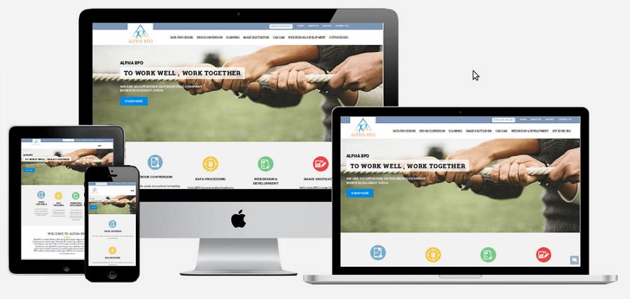 使用响应式设计的网页设计示范